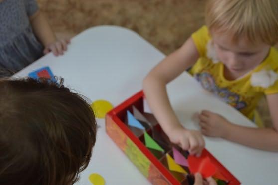 знакомство детей с предложением игры